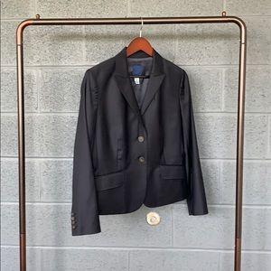 J. Crew Super 120s Navy Suit Blazer